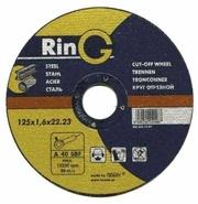 125 х 1.6 х 22.23. Отрезные круги (диски) по металлу. RinG (Австрия).