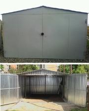 каркасный металлический гараж