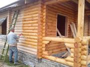 Лляна олія з віском для обробки деревини,  зрубів,  дерев`яних будинків.