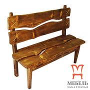 Мебель для комнаты отдыха бани,  Скамейка под старину