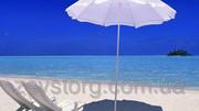 Пляжный зонт,  цвет белый 1, 5м