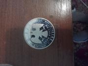 монета 3 рубля 2012р дракон серебро