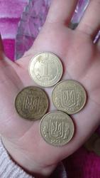 Продам монети 1 гривня з 1996
